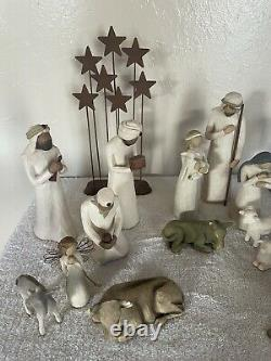 18 Willow Tree hand-painted sculpted figures Nativity 3 Wise Men Shepherd Star
