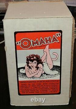 1989 Omaha the Cat Dancer Porcelain Statue Hand Painted Brand New In Box RARE
