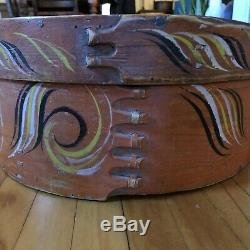 19th Century Circa 1850 Norwegian Hand Painted Box West Coast of Norway