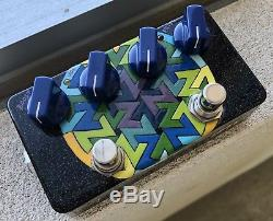 2009 ZVex Box of Rock Handpainted 1 Of 1 Guitar Overdrive & Boost Pedal