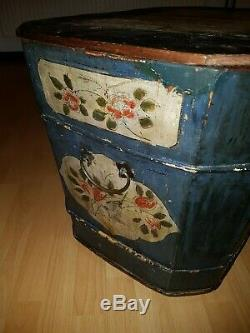 Alte Chinesische Truhe Box Holz Bemalt Chinese hand painted wooden container/box