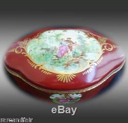 Amoges hand painted dresser box victorian scenes FREE SHIPPING