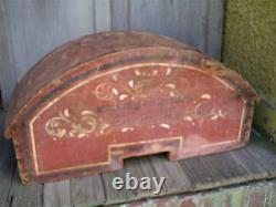 Antique 1800s Farm Machinery Makers Folk Art Hand Painted Trade Sign Box Cover