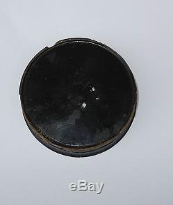 Antique 19th C Wood Snuff Box Hand Painted Double Portrait Lid