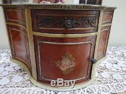 Antique French Kingwood Decorative Hand Painted Box