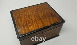 Antique Grained Pine Document Box Hand Painted Interior