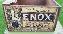 Awesome Antique Lenox Just Fits the Hand Soap Wooden Advertising Box Crate