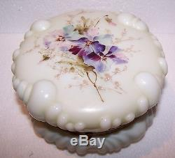 BEAUTIFUL! C. F. MONROE HAND PAINTED WAVE CREST LARGE DRESSER BOX