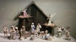 BOEHM NATIVITY SET 18Pc COMPLETE Porcelain Decorated Hand Painted MINT IN BOX