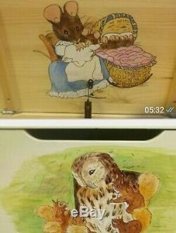 Beatrix potter hand painted personalised Childrens toy box to order