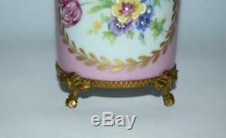 Big Antique Vintage French Limoges Porcelain Hand Painted Trinket Jewelry Box