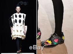 COMME DES GARCONS New in Box! Runway Hand Painted Leather Shoe Covers M