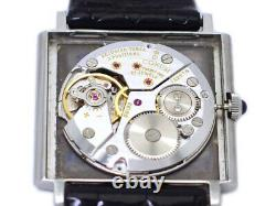 CORUM Square 57155 Gray Dial Hand Winding Vintage Watch 1970's Overhauled