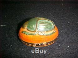 Chamart Limoges Handpainted Hinged Trinket Box(s) Scarab Beetle