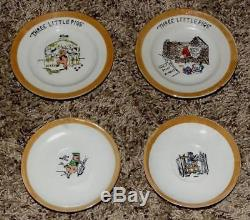 DISNEY 1930's 11 PIECE HAND PAINTED 3 LITTLE PIGS CHINA TEA SET-EX. TO NM + BOX