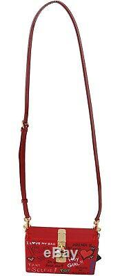 DOLCE & GABBANA Bag Purse Hand Painted Wooden Red BOX SICILY Leather RRP $2600