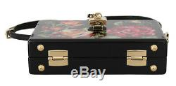 DOLCE & GABBANA Bag Purse Hand Painted Wooden Roses BOX SICILY Leather RRP $2600