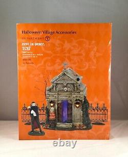 Dept 56 Lit REST IN PEACE 2017 Set of 4 SV HALLOWEEN 4047591 CRYPT series NEW