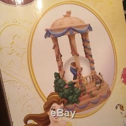 Disney beauty and the beast snowglobe new in box hand painted limited edition