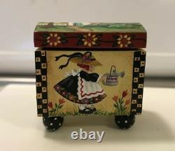 Dollhouse Miniatures Artisan OOAK Handpainted Toy Box By Pamm Bacon