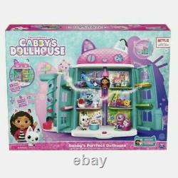 DreamWorks Netflix Gabbys Purrfect Dollhouse With 15 Pcs Toy NEW! In Hand