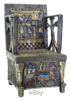 Egyptian Throne Jewelry Box #2Hand Painted Detail Magnetic Secret Compartment
