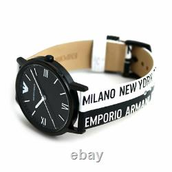 Emporio Armani Three-Hand Two-Tone Leather Unisex Watch AR11254 SHIPS TODAY