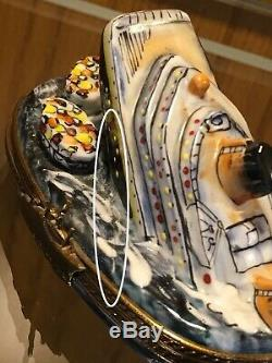 Estate lot 18 Limoges made in France trinket Boxes Signed Hand Painted Mix Lot