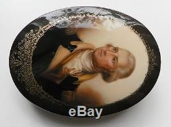 Fedoskino Russian Lacquer Box Hand Painted Made In Russia George Washington