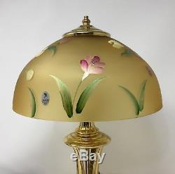 Fenton Autumn Gold Hand Painted Lamp New With Box and Tags! #2718 OE