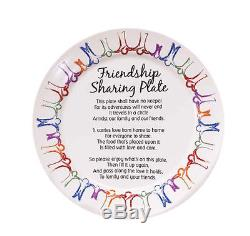 Friendship Sharing Plate 10 Hand Painted BRAND NEW IN ORIGINAL BOX Family