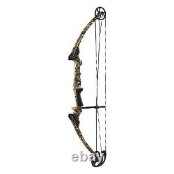 Genesis Archery 20 lb Right Hand Compound Target Practice Bow, Camo (Open Box)