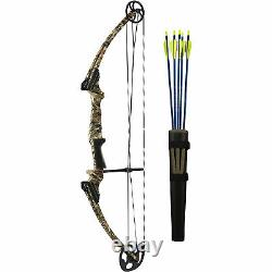 Genesis Archery Compound Target Practice Bow Kit, Right Handed, Camo (Open Box)