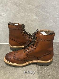 Grenson Fred Boots Hand painted Size 7 G Leather BRAND NEW NO BOX RRP £280