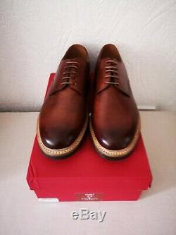 Grenson Hand Painted Curt Derby Shoes! Brand New With Box! UK Size 10