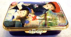 Halcyon Days Enamel Hand Painted Renior Inspired Two Sisters Ltd Ed Box 374/750