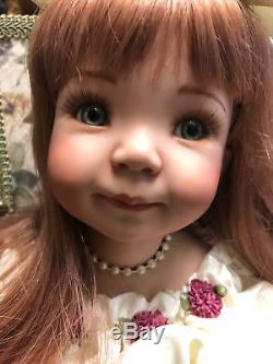 Hand Painted Porcelain Doll music box Smiling Jenny by Dianna Effner