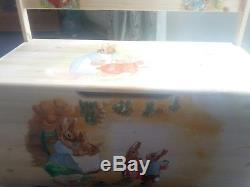 Handpainted large pine beatrix potter toy box(ready now)