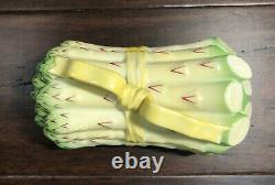Herend Asparagus Box & Lid Yellow Ribbon Hand Painted Porcelain 6070 5.5X3X3