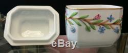 Herend Hungry Porcelin China Floral Handpainted Tea Caddy Box