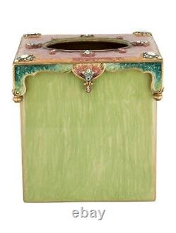Jay Strongwater Green Tissue Box Cover