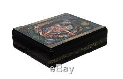 Kholui Russian Lacquer Box Waltz of the Flowers (From The Nutcracker) #4077