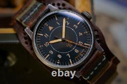 Laco 1925 Mens Limited Edition Auxiliary Observer 862143 RAD-AUX Hand Aged NEW