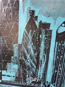 Large ORIGINAL HAND PAINTED ABSTRACT By Diane Plant 60 x 80cm Box Canvas Acrylic