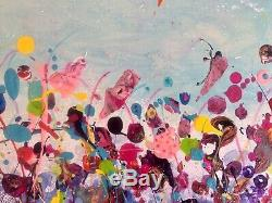 Large ORIGINAL HAND PAINTED ABSTRACT By Diane Plant 80x 60cm Box Canvas Acrylic