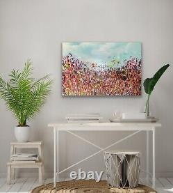 Large ORIGINAL HAND PAINTED ABSTRACT By Diane Plant 91 x 61cm Box Canvas Acrylic
