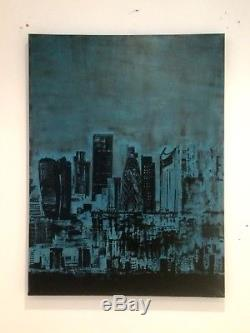 Large ORIGINAL HAND PAINTED ABSTRACT by Diane Plant 80 x 60cm Box Canvas Acrylic