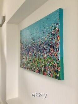 Large ORIGINAL HAND PAINTED ABSTRACT by Diane Plant 90 x 60cm Box Canvas Acrylic