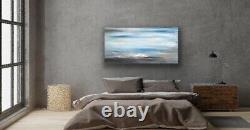 Large ORIGINAL HANDPAINTED ABSTRACT By Sally Oasis 100x50x2cm Box Canvas Acrylic