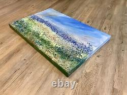 Large ORIGINAL HANDPAINTED ABSTRACT By SallyOasis 76x51x4cm Box Canvas Acrylic